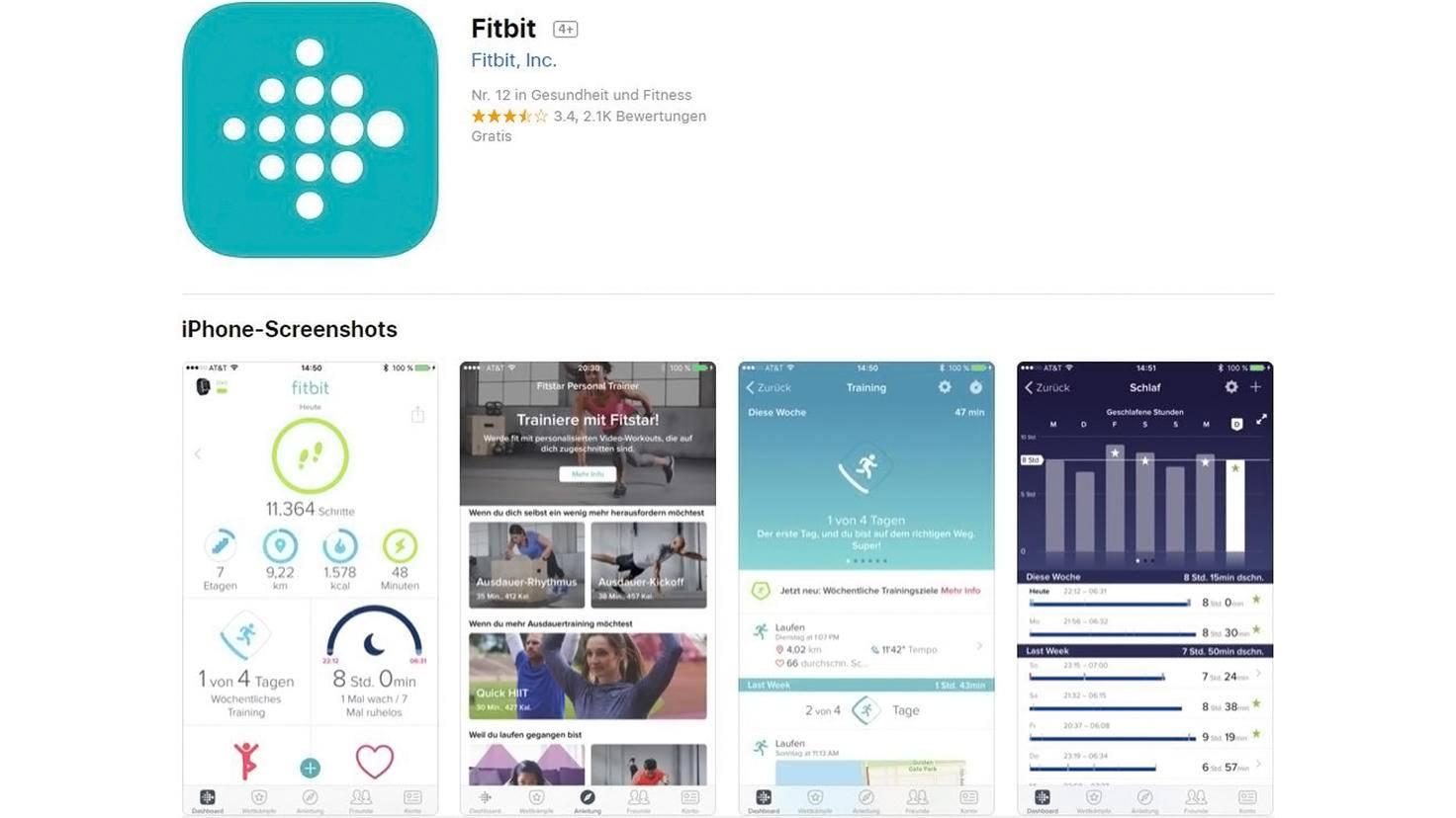 Fitbit App-Apple-App Store
