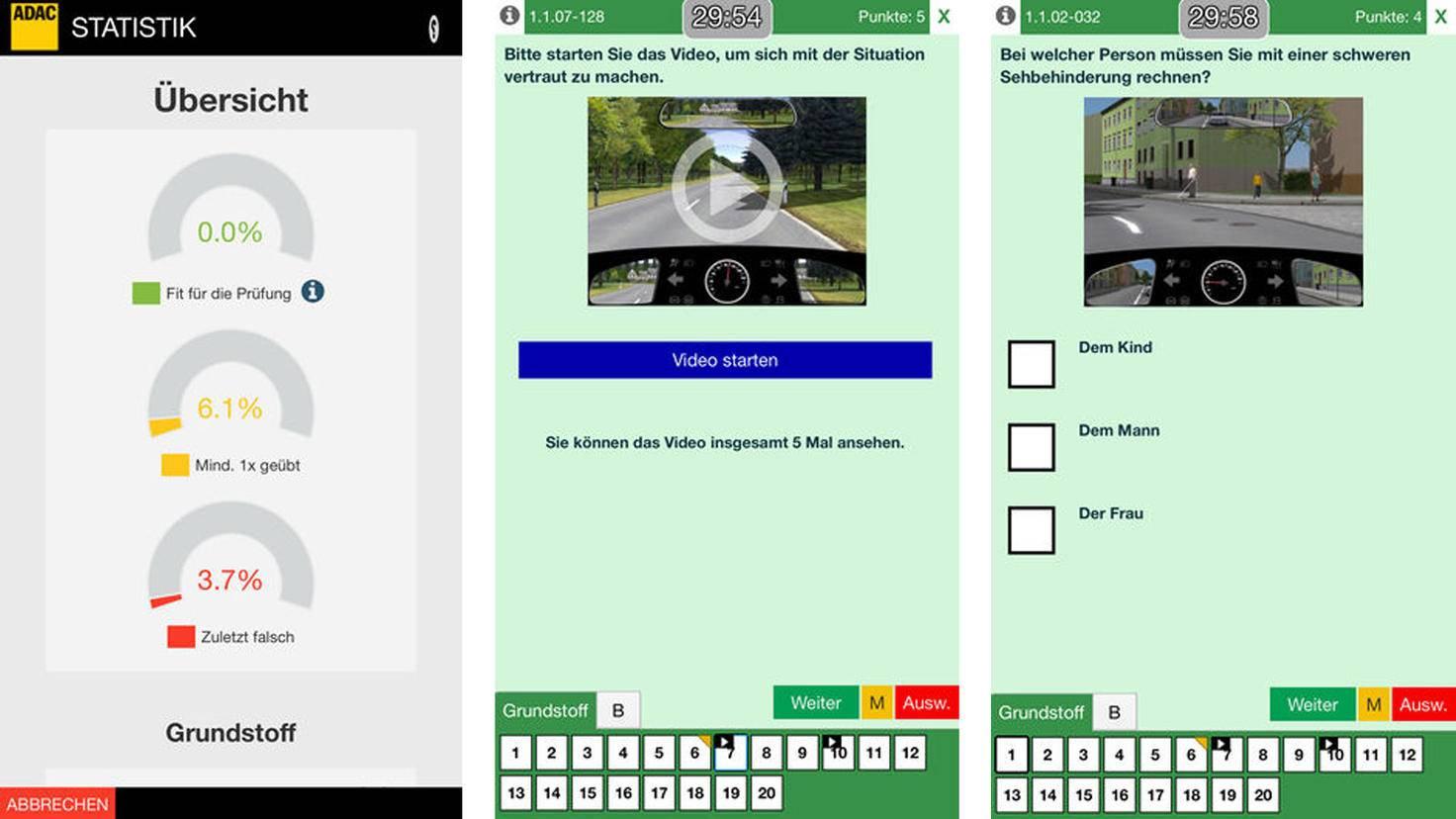 Führerschein-App ADAC