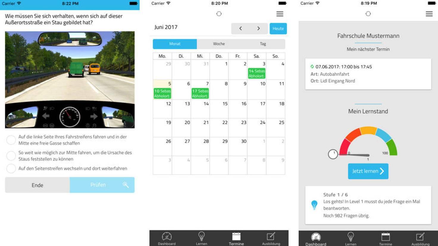 Führerschein-App Meine Fahrschul-App
