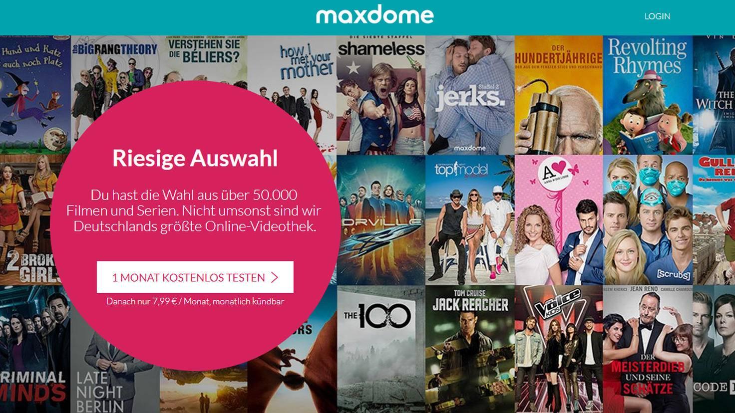 Auf Maxdome findest Du über 50.000 Filme und Serien zum Streamen, Leihen und Kaufen.