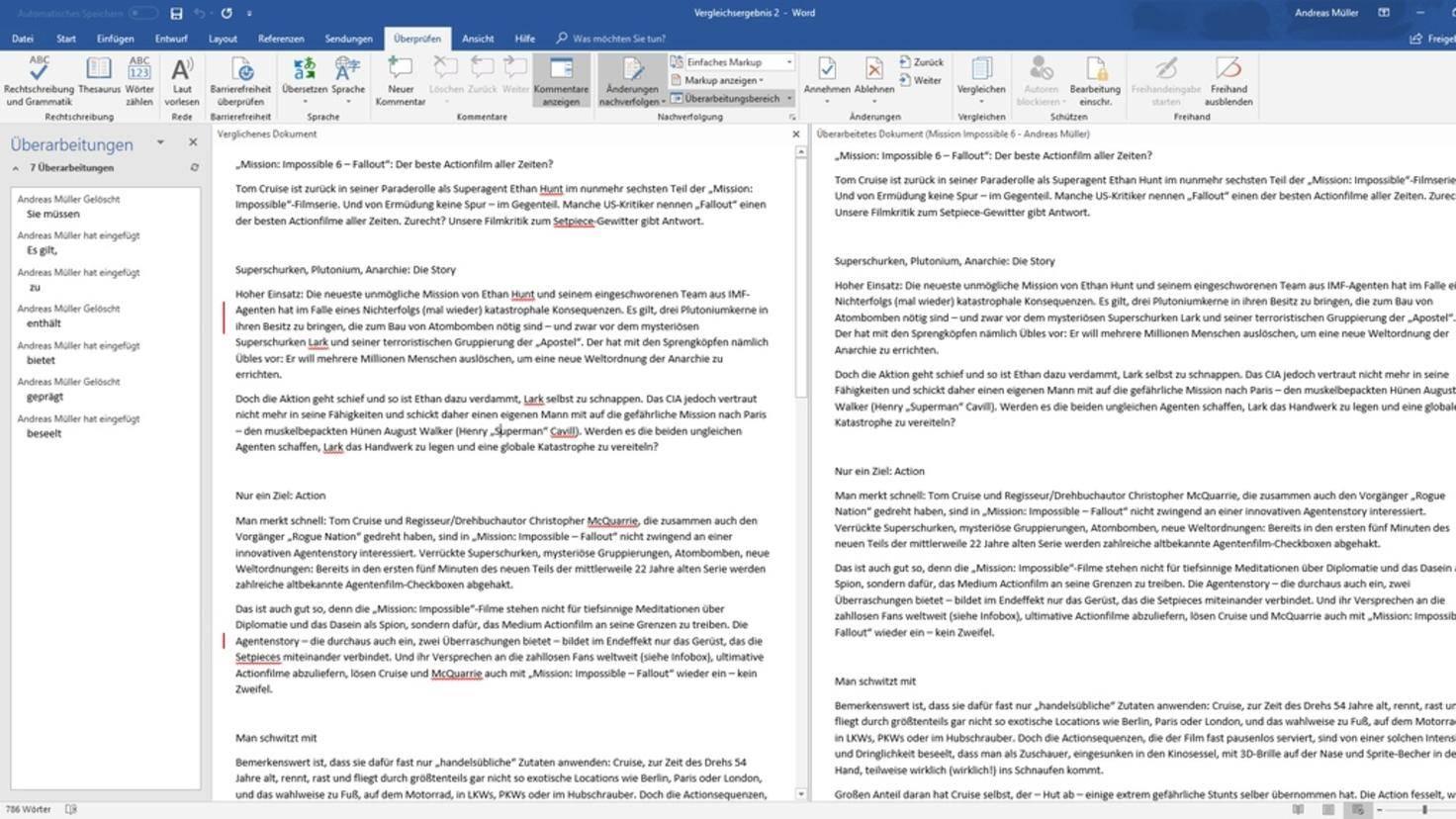 Microsoft-Word-Vergleich
