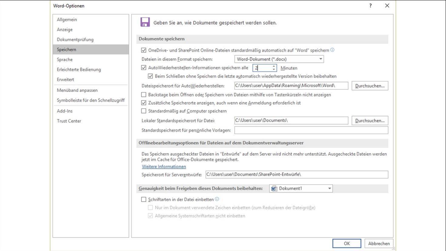 Microsoft-Word-Wiederherstellen