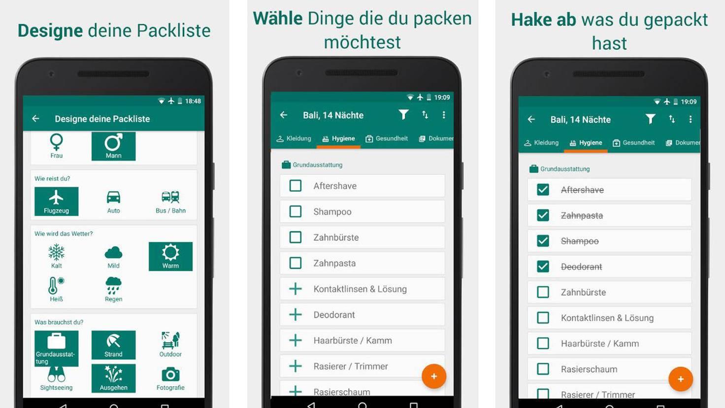 Packking Kofferpacken-App