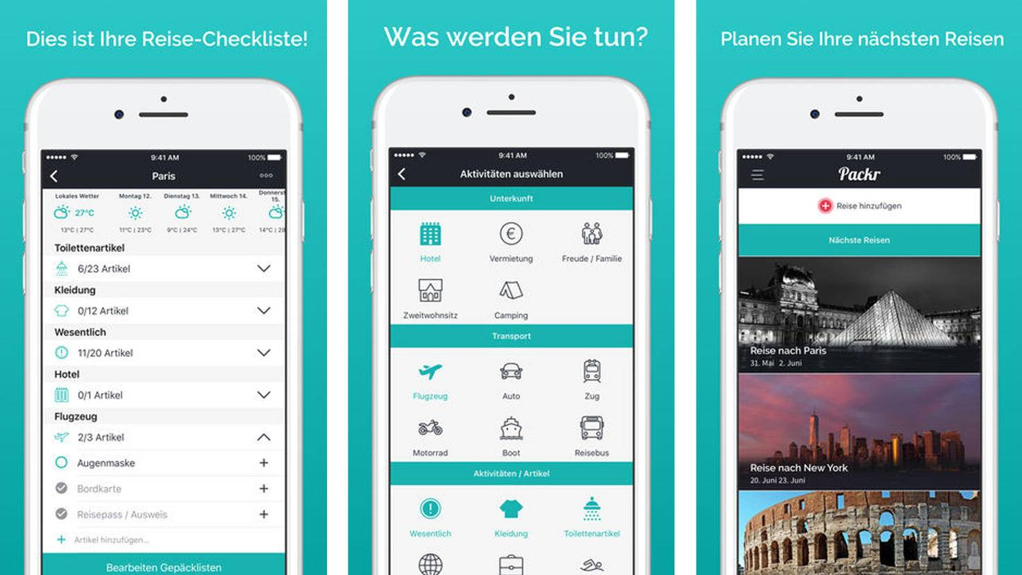 Packr Kofferpacken-App