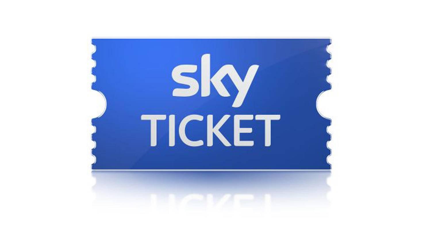 Das blaue Sky Ticket steht für Sport, Lila für Serien und Pink für Cinema.
