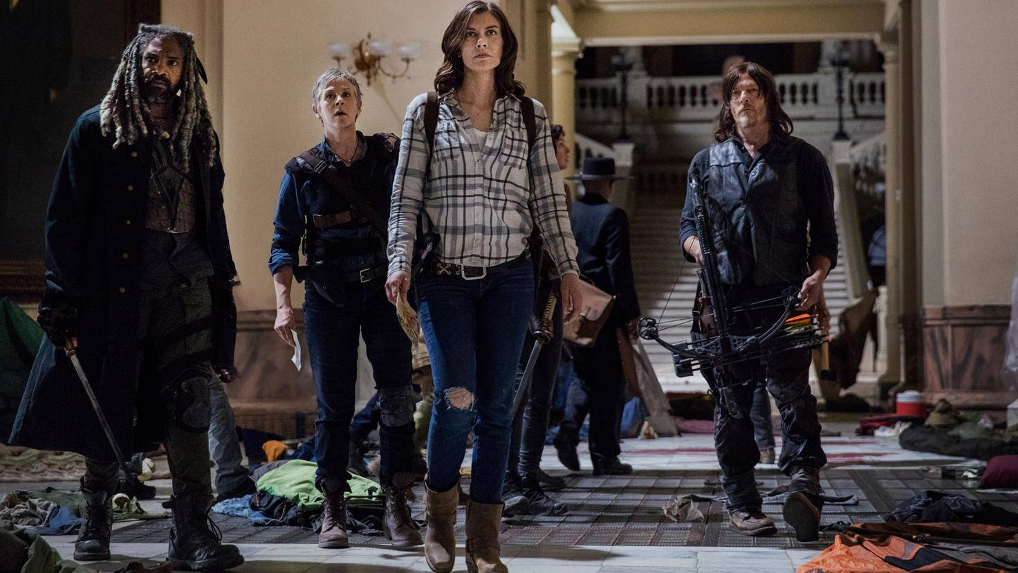 The Walking Dead-S09E01-Ezekiel-Carol-Maggie-Daryl-Jackson Lee Davis-AMC