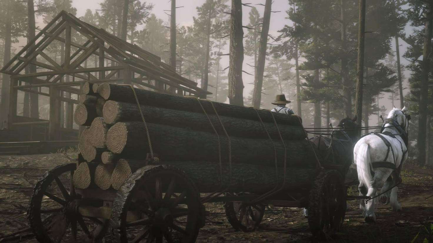 """Die NPCs in """"Red Dead Redemption 2"""" führen ihr eigenes Leben – und bauen offenbar sogar Häuser mit der Zeit fertig."""