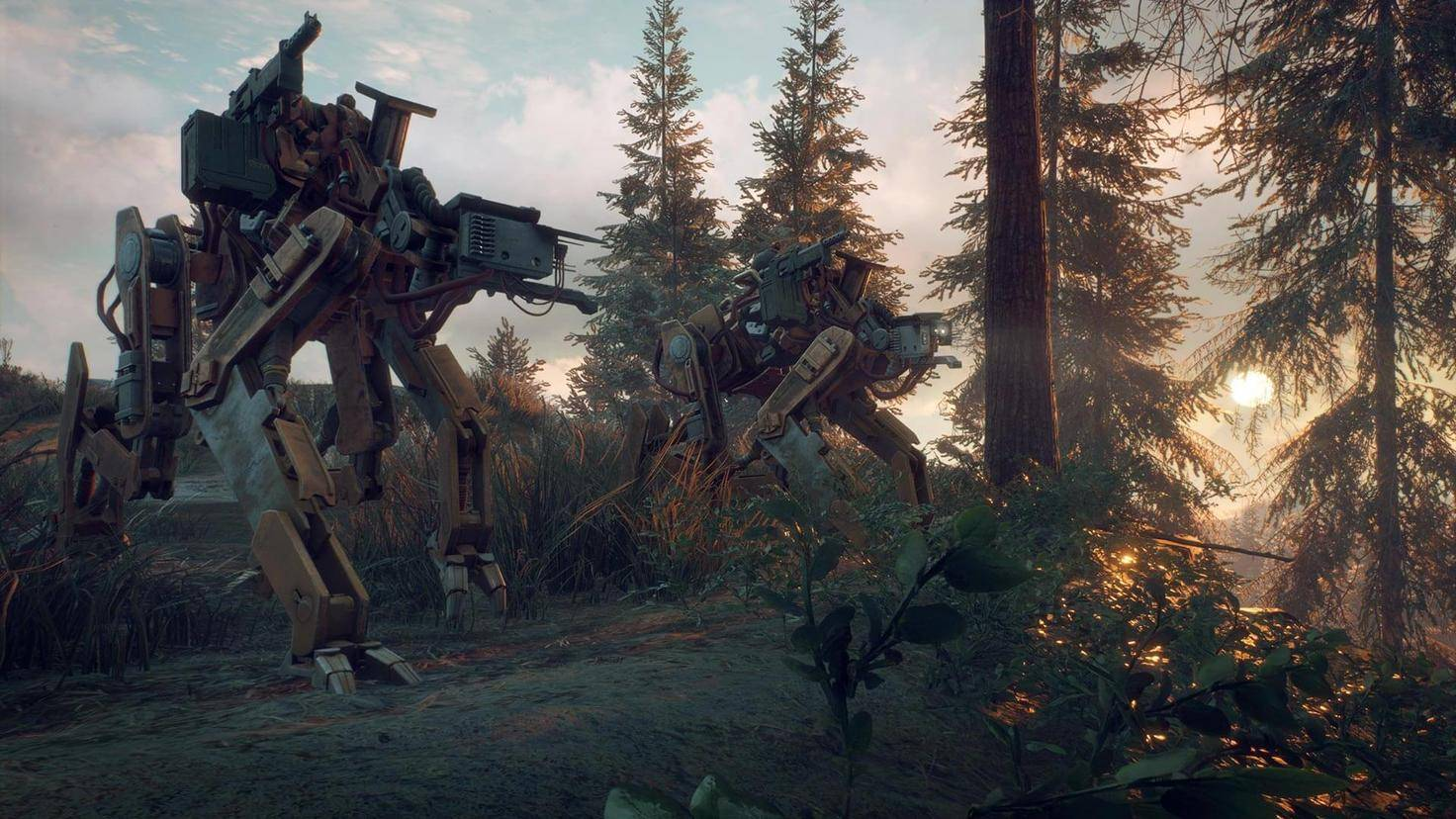 Bewaffnete Roboter-Hunde durchstreifen in Rudeln das Land.