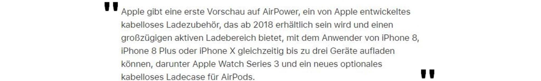 AirPower-Textauszug