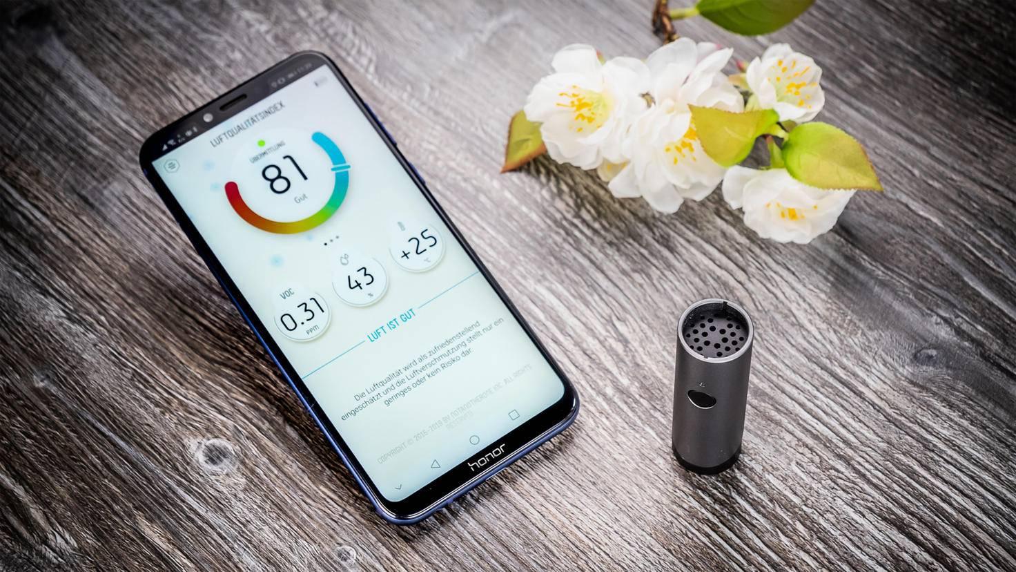 Die genaue Luftqualität lässt sich über die App einsehen.