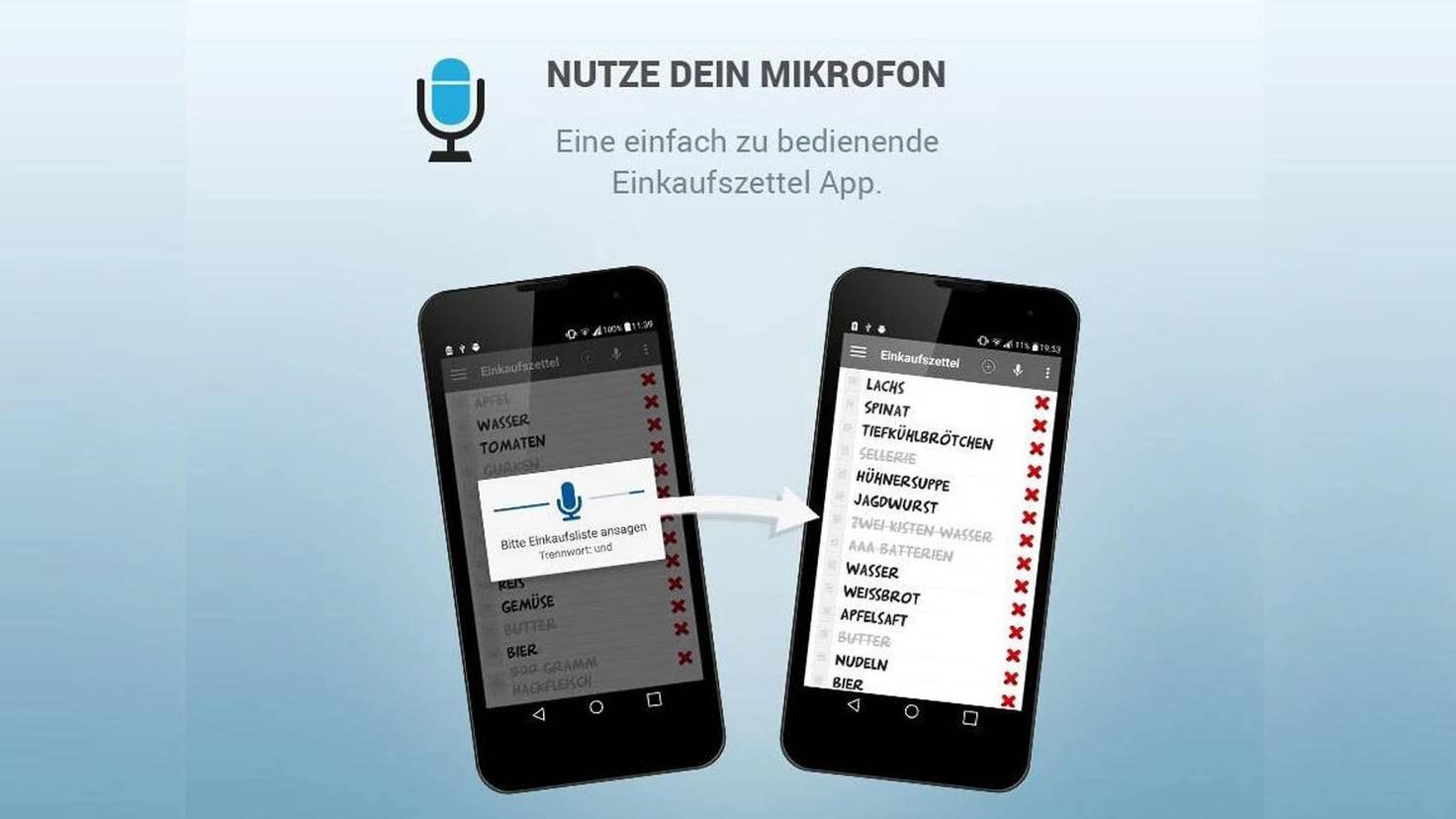 Einkaufszettel Spracheingabe-Google Play Store-TK Solution