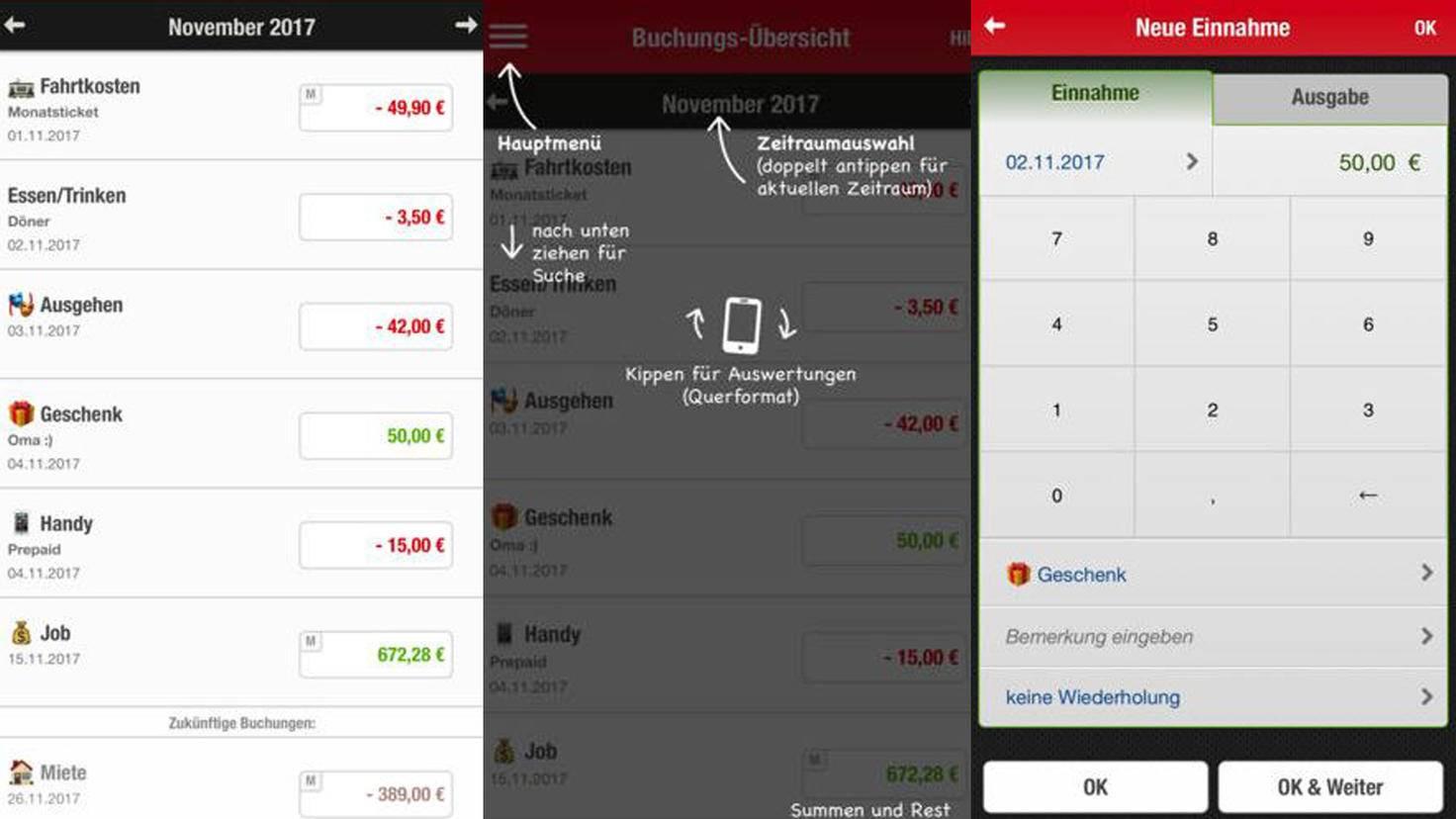 Haushaltsbuch-App Finanzchecker