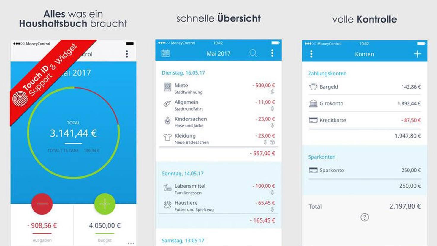 Haushaltsbuch-App MoneyControl