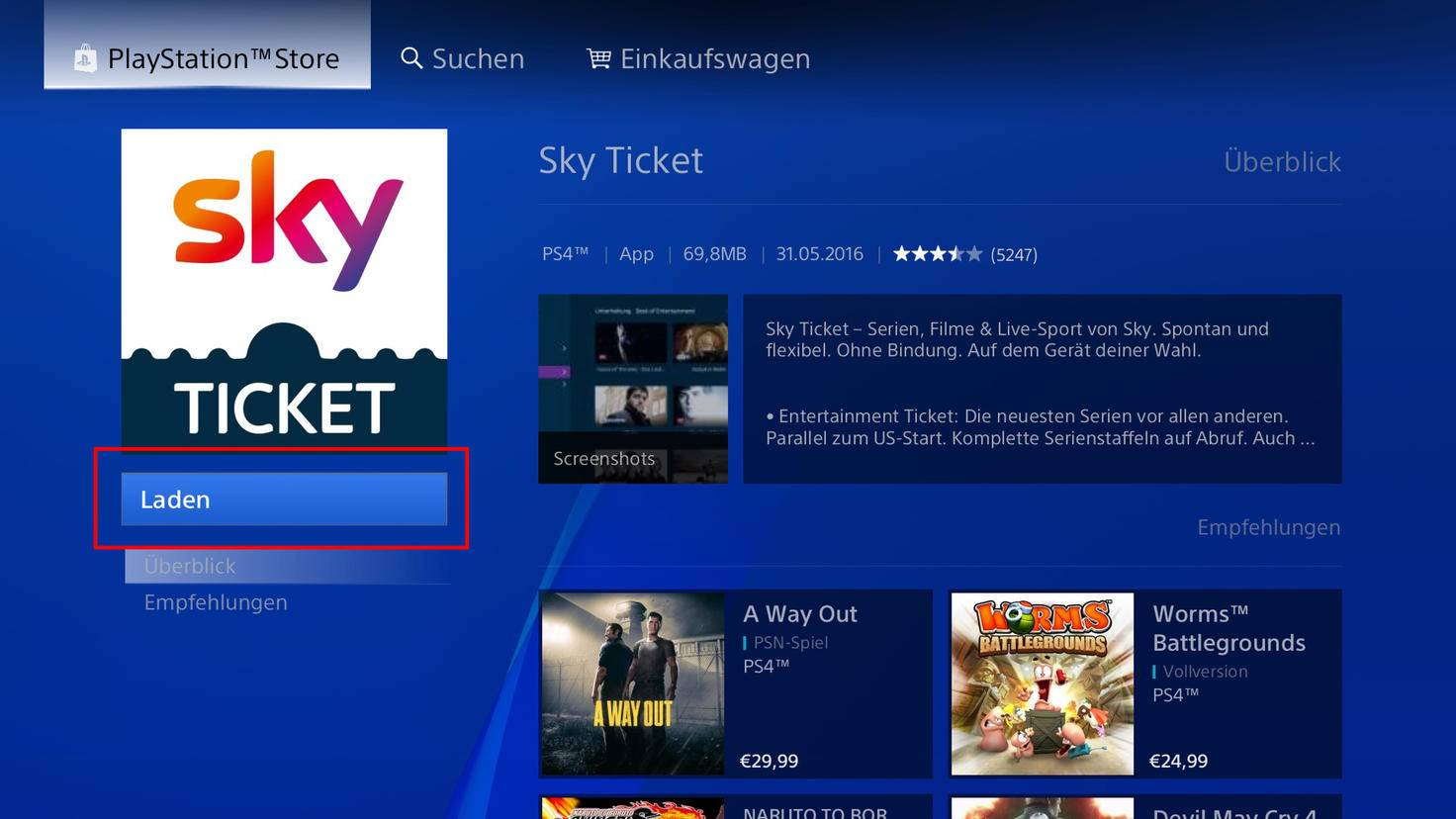 PlayStation Sky Ticket 3