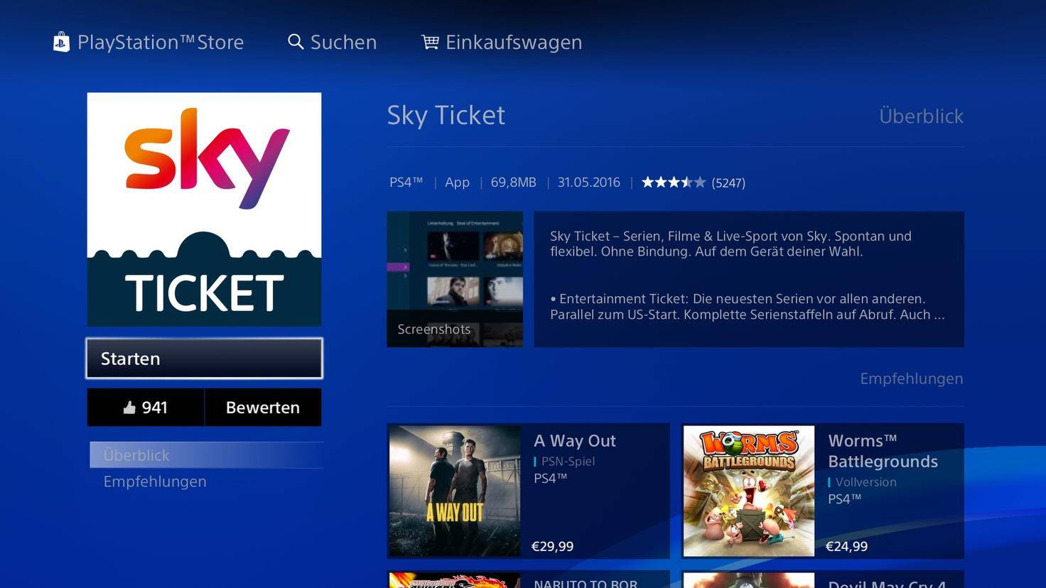PlayStation Sky Ticket 4