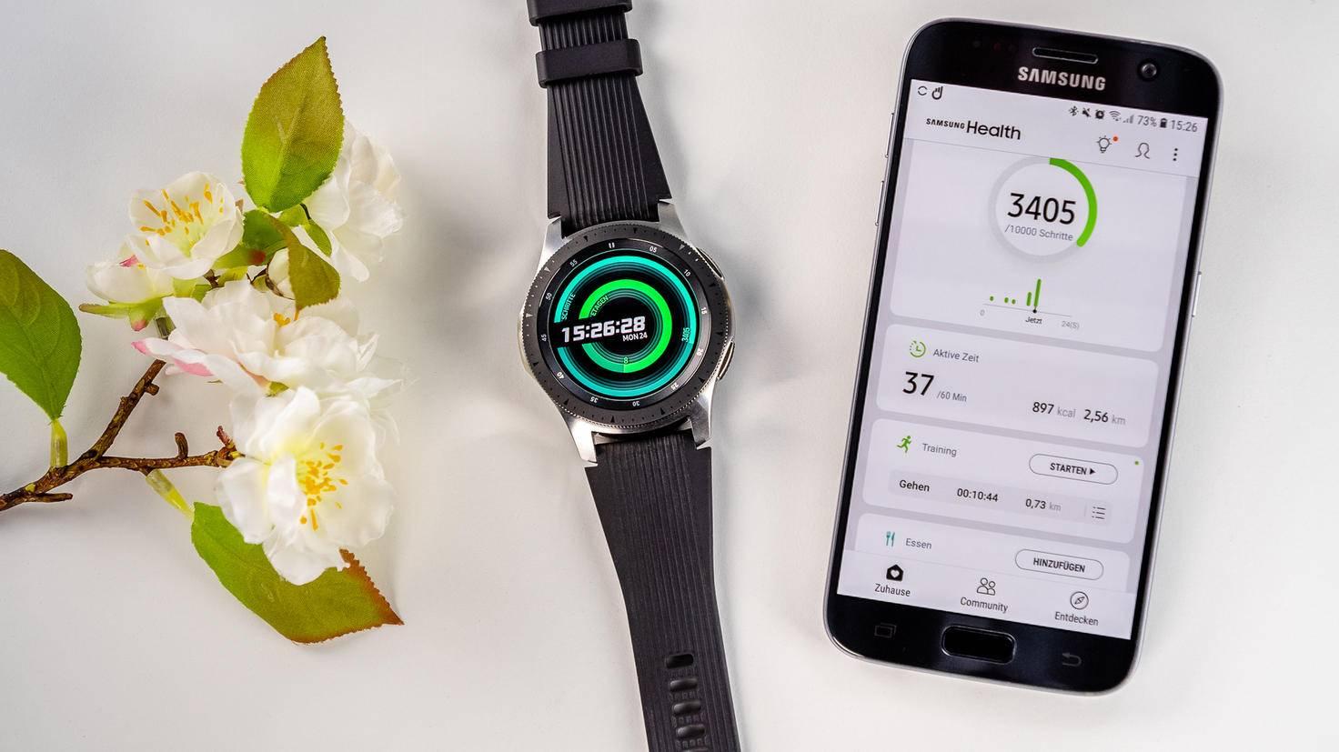 Galaxy-Watch-Besitzer brauchen zwei Smartphone-Apps: Galaxy Wearable und Samsung Health.