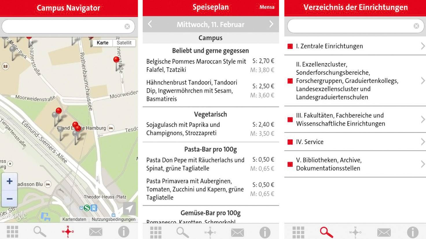 Uni Hamburg App-Google Play Store-Universität Hamburg