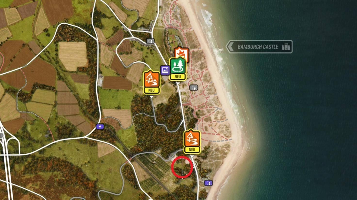 """Forza Horizon 4""-Scheunenfunde: Fundort des Bentley Blower."