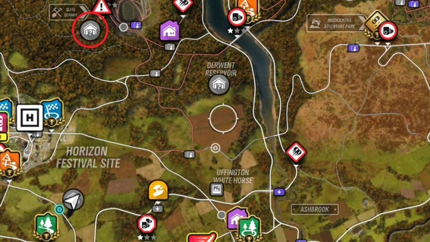 """""""Forza Horizon 4""""-Scheunenfunde: Fundort des Lotus Elise G1."""