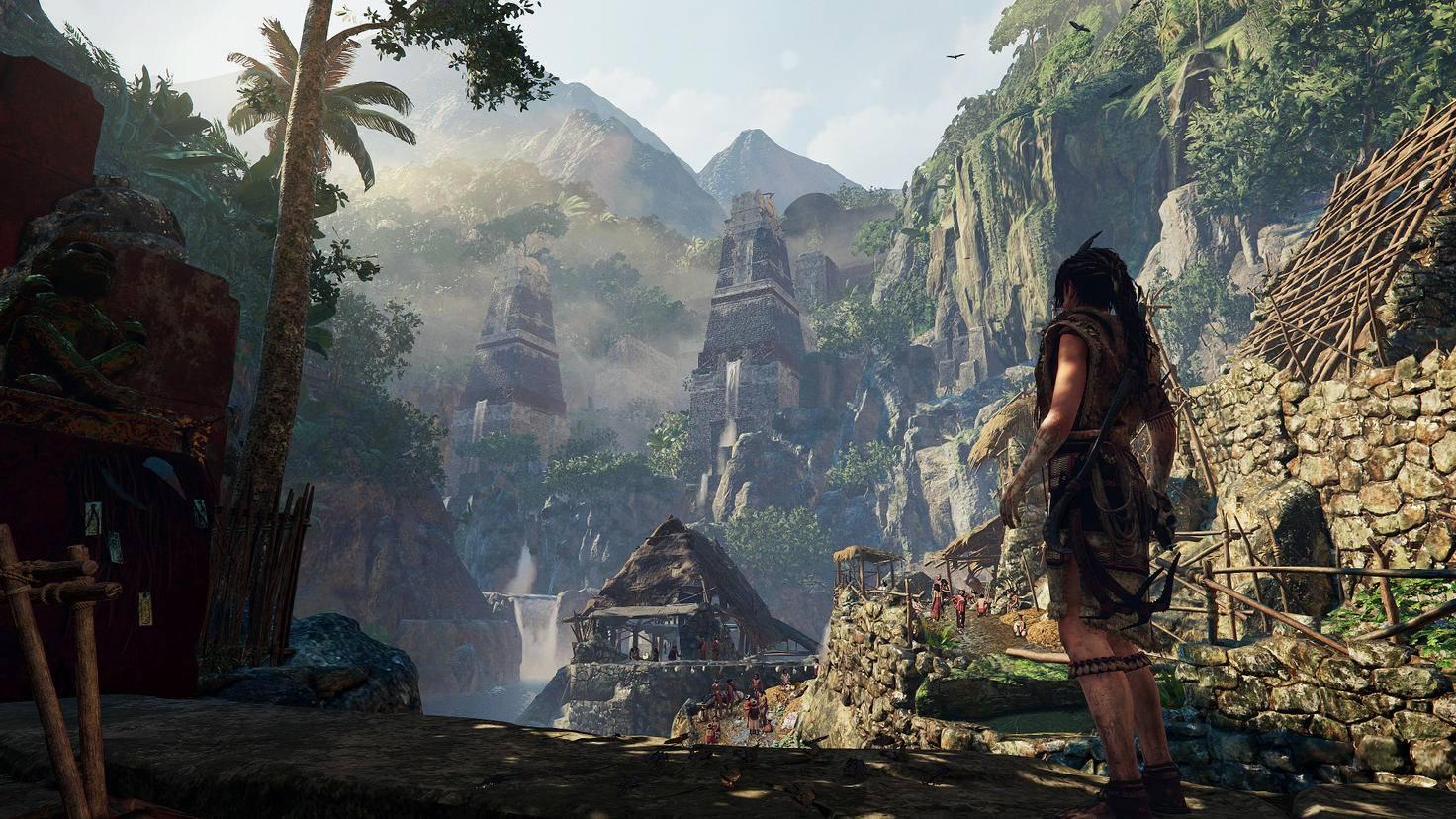 Teilweise spielt das Game in einer abgeschiedenen Dschungelstadt. Trotzdem verkaufen deren Einwohner moderne Sturmgewehre an Lara.