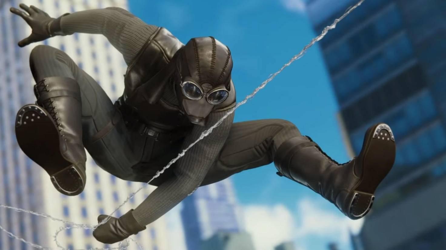 """Spider-Man Noir im PS4-Spiel """"Marvel's Spider-Man"""" von 2018."""