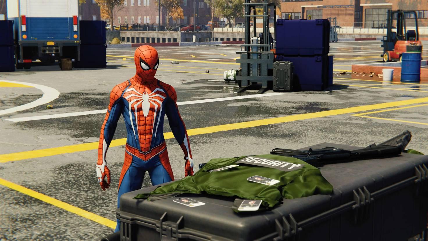 Was haben die Gangster wohl vor? Spider-Man als Detektiv.