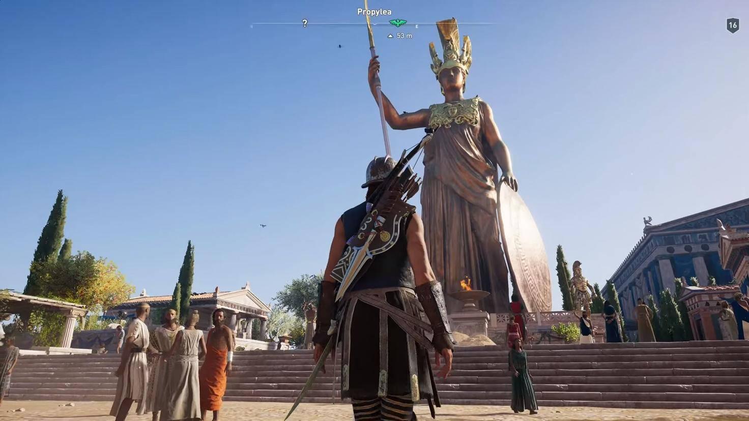 Assassins Creed Odyssey Athene Statue