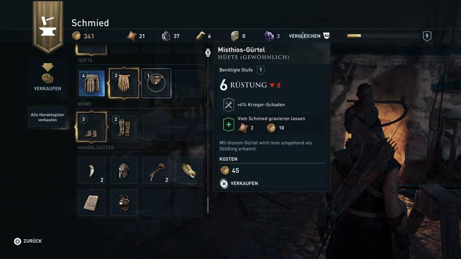 Assassins Creed Odyssey Rüstung verkaufen