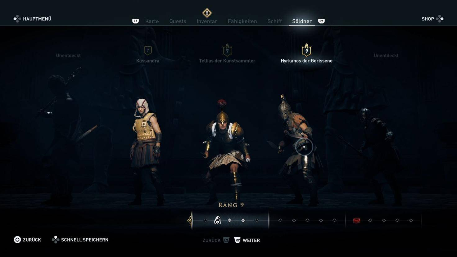 Assassins Creed Odyssey Söldnerrangliste