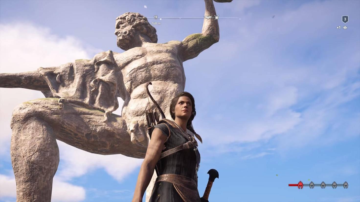 Assassins Creed Odyssey Zeus Statue