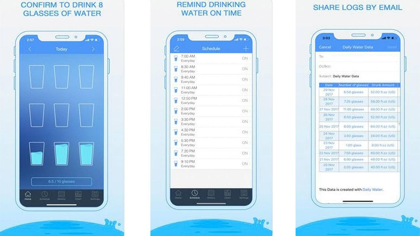 Daily Water Drink Reminder-iTunes-Hydr-8 Water Minder Counter