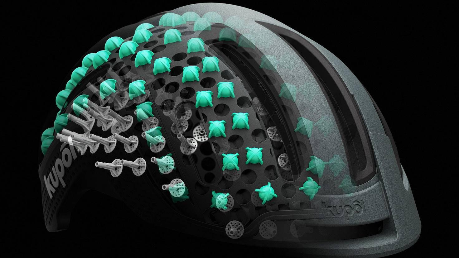 Fahrradhelm aus dem 3D-Drucker Kupol