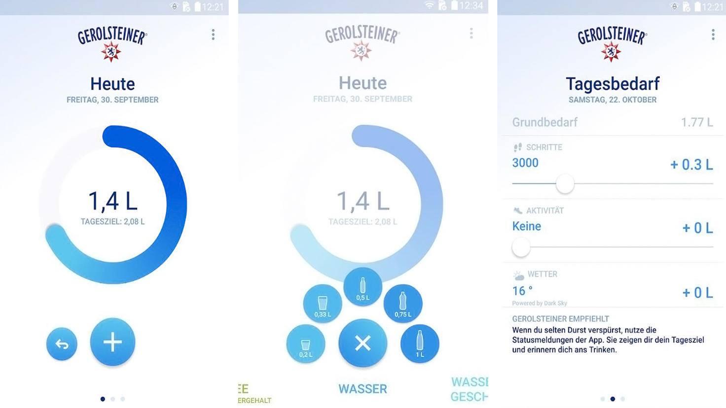 Gerolsteiner TrinkCheck-Google Play Store-Gerolsteiner Brunnen GmbH Co KG