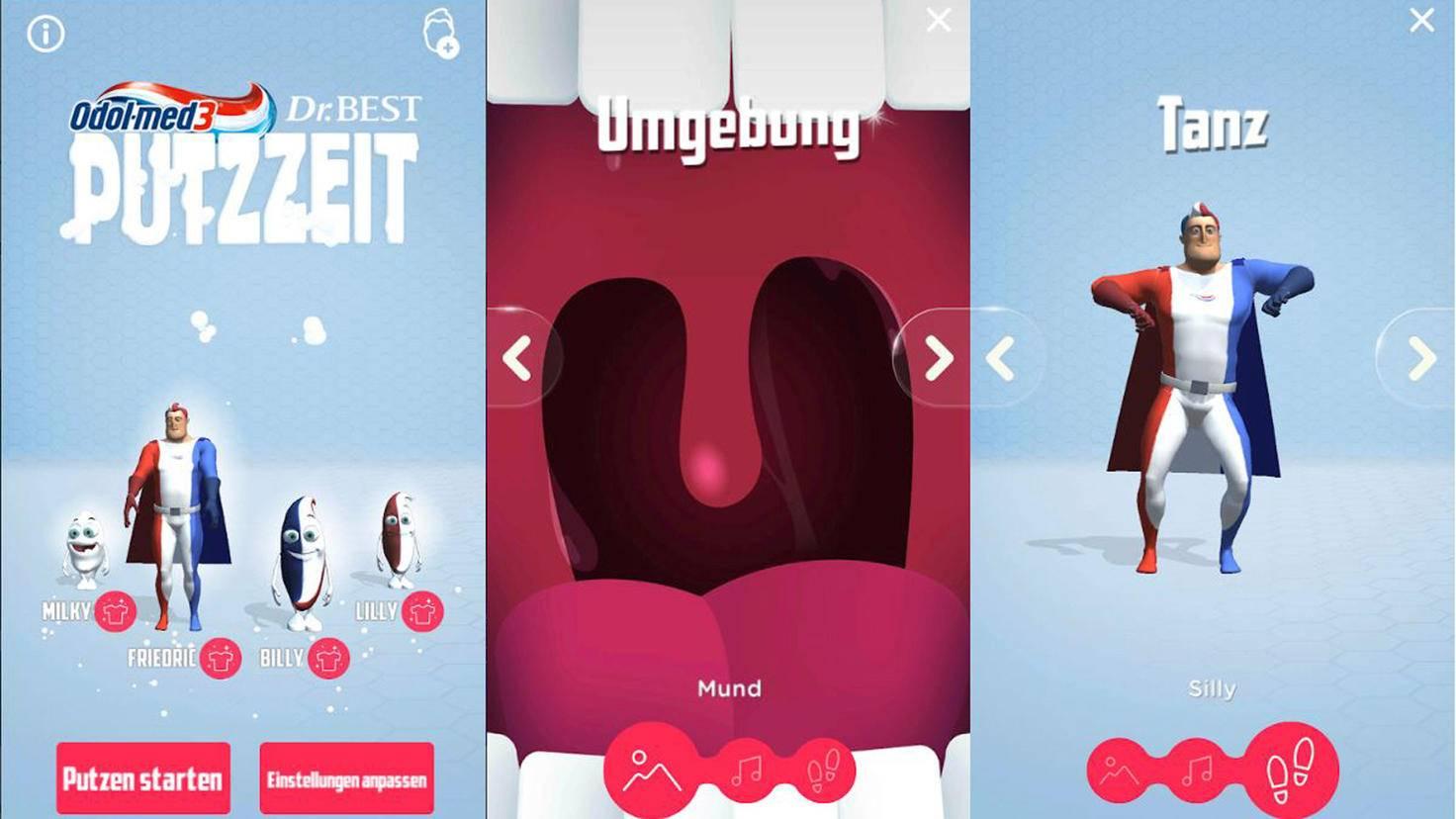 Odol-med3 Putzzeit App