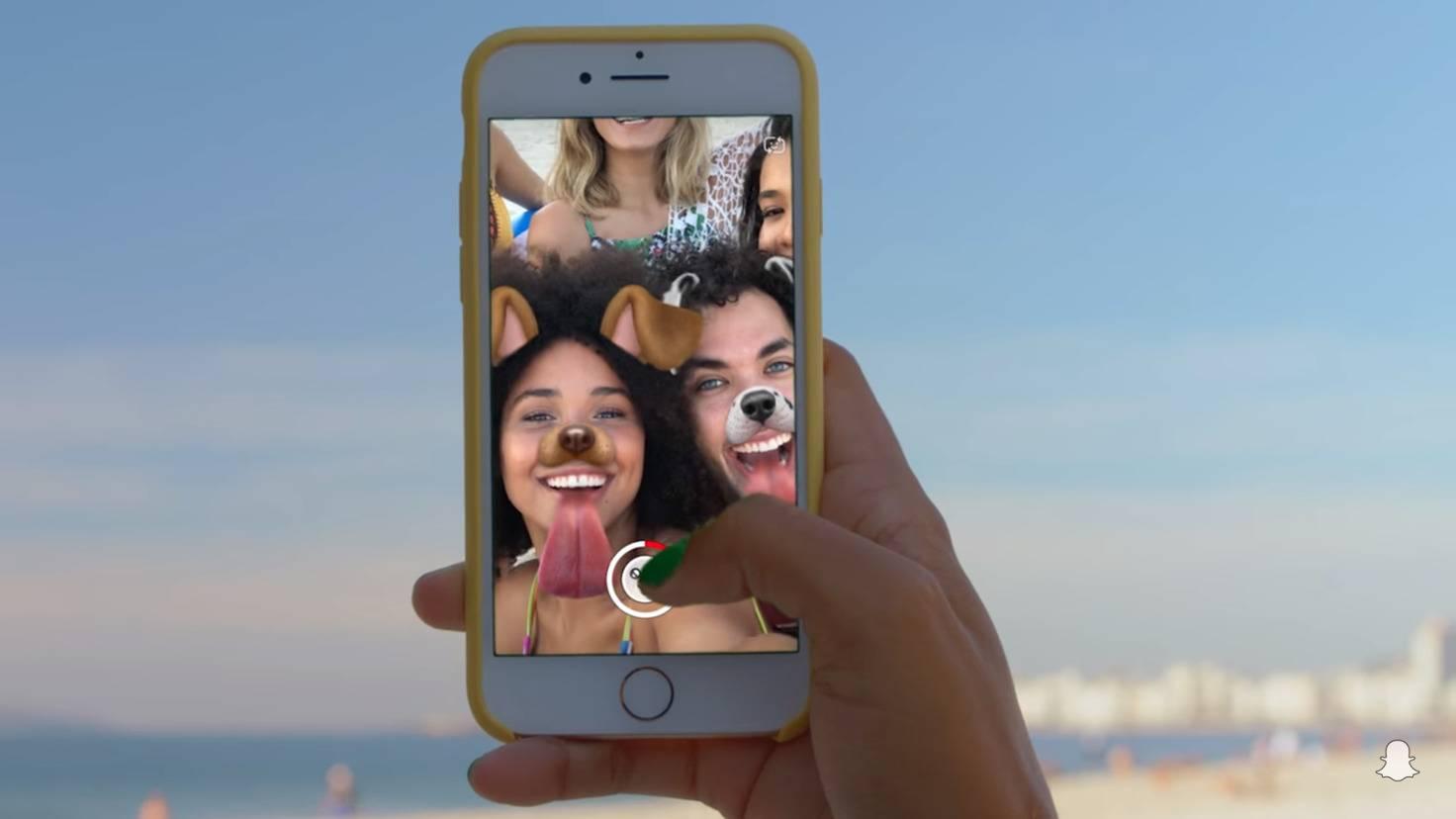 Snapchat-Gesichtslinsen