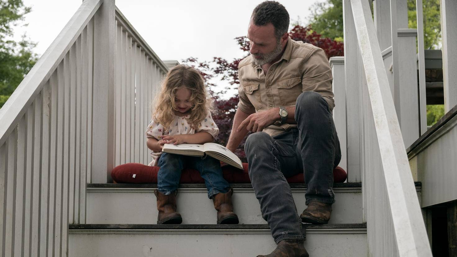 The Walking Dead-S09E03-Rick-Judith-Gene Page-AMC