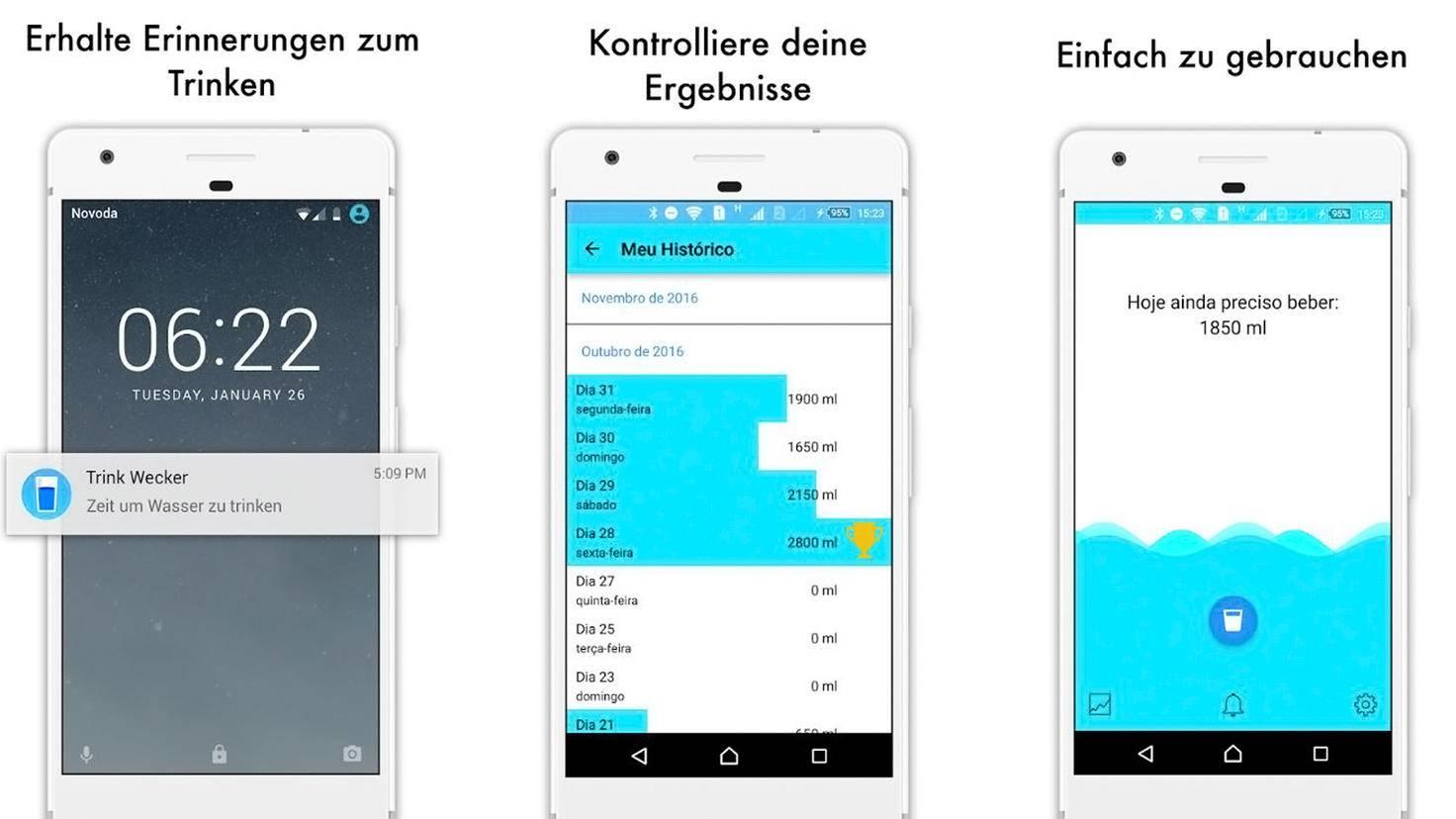 Trink Wecker Mein Wasser-Google Play Store-Aplicativos Legais - LTDA