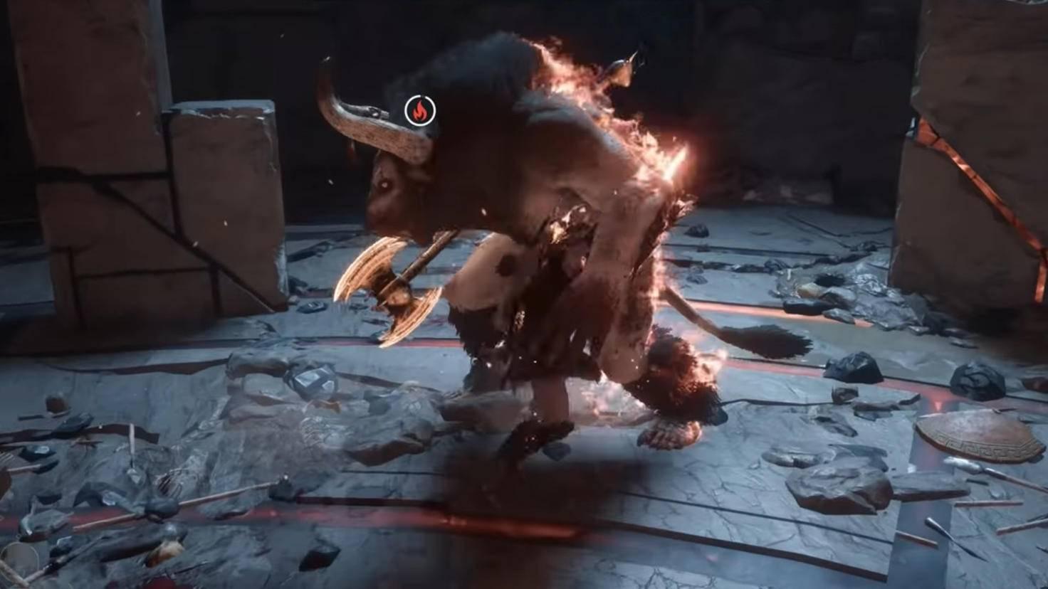 Feuerschaden ist effektiv gegen den Minotaurus.