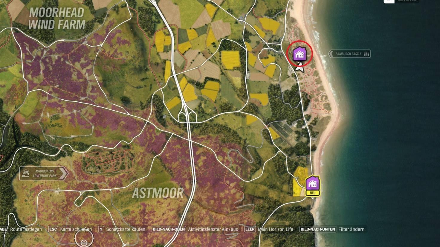 """Forza Horizon 4"": Fundort des Spielerhauses ""Bamburgh Castle"""