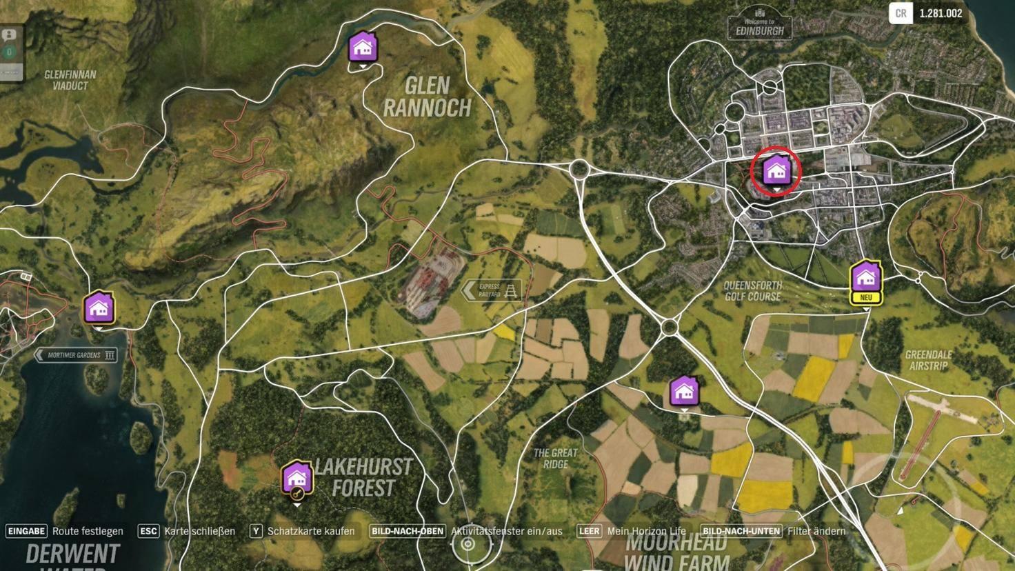 """Forza Horizon 4"": Fundort des Spielerhauses ""Edinburgh Castle"""