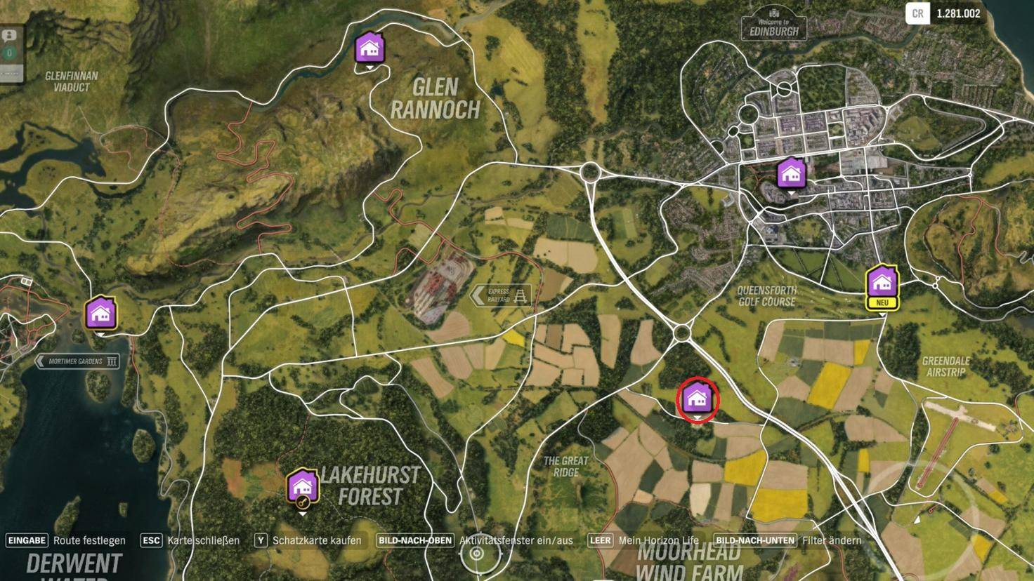 """Forza Horizon 4"": Fundort des Spielerhauses ""Fairlawn Manor"""