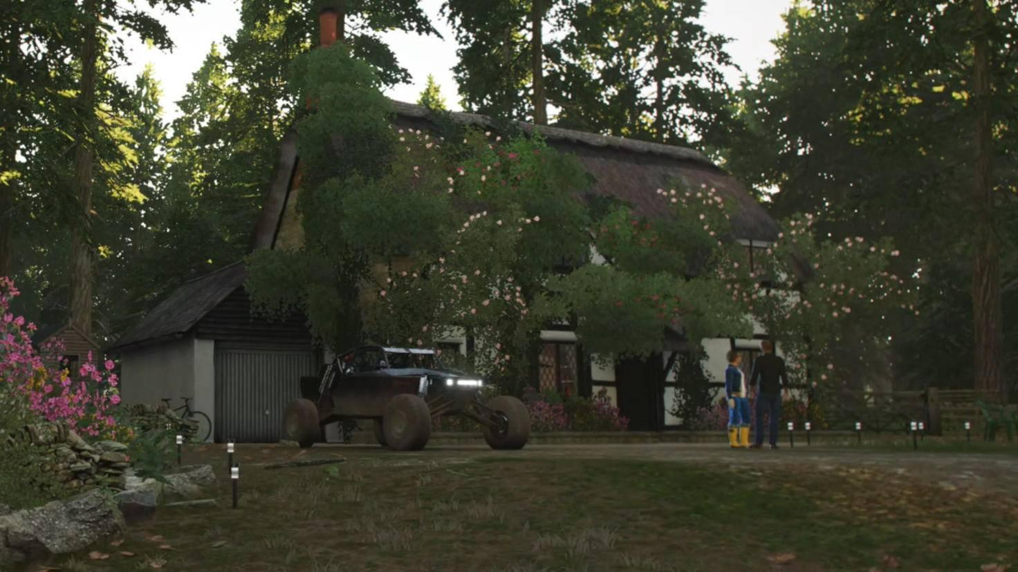 """Mein Haus, mein Auto, mein Wald: """"Forza Horizon 4"""" macht nicht nur Auto-, sondern auch Immobilien-Sammler glücklich."""