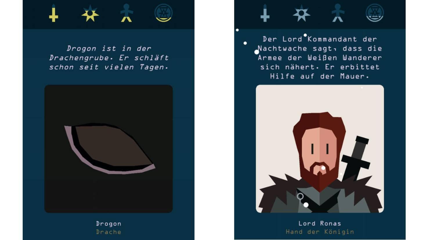 """Figuren und Schauplätze aus """"Game of Thrones"""" verfeinern das Spielprinzip."""