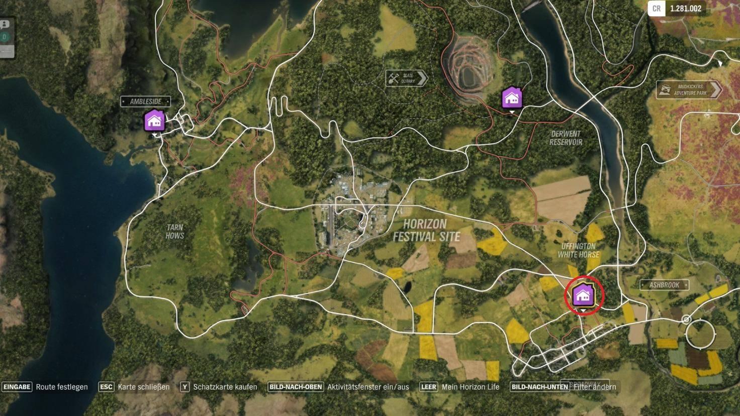 """Forza Horizon 4"": Fundort des Spielerhauses ""The Gables"""