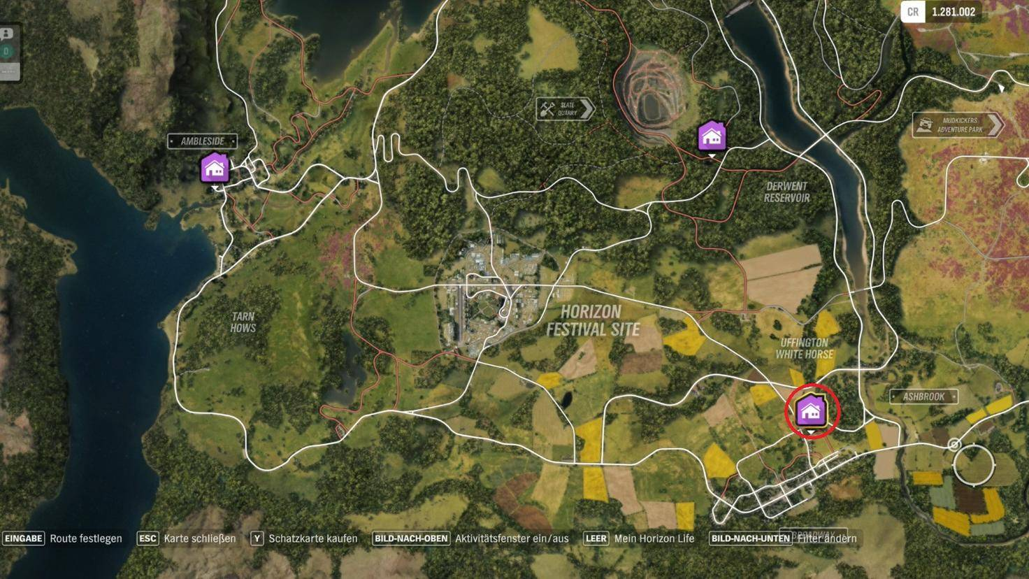 """Forza Horizon 4"": Fundort des Spielerhauses ""The Gables"""