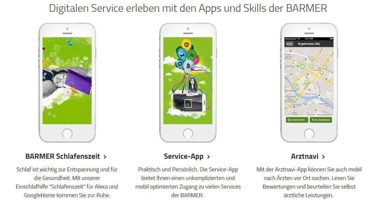 Barmer Krankenkassen Apps-Barmer
