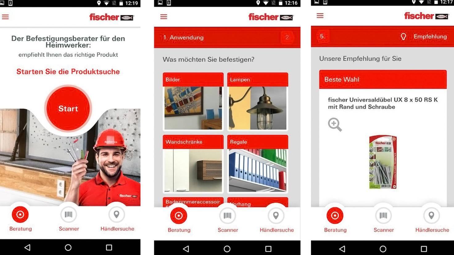 Fischer Dübelfinder-Google PlayStore-fischer