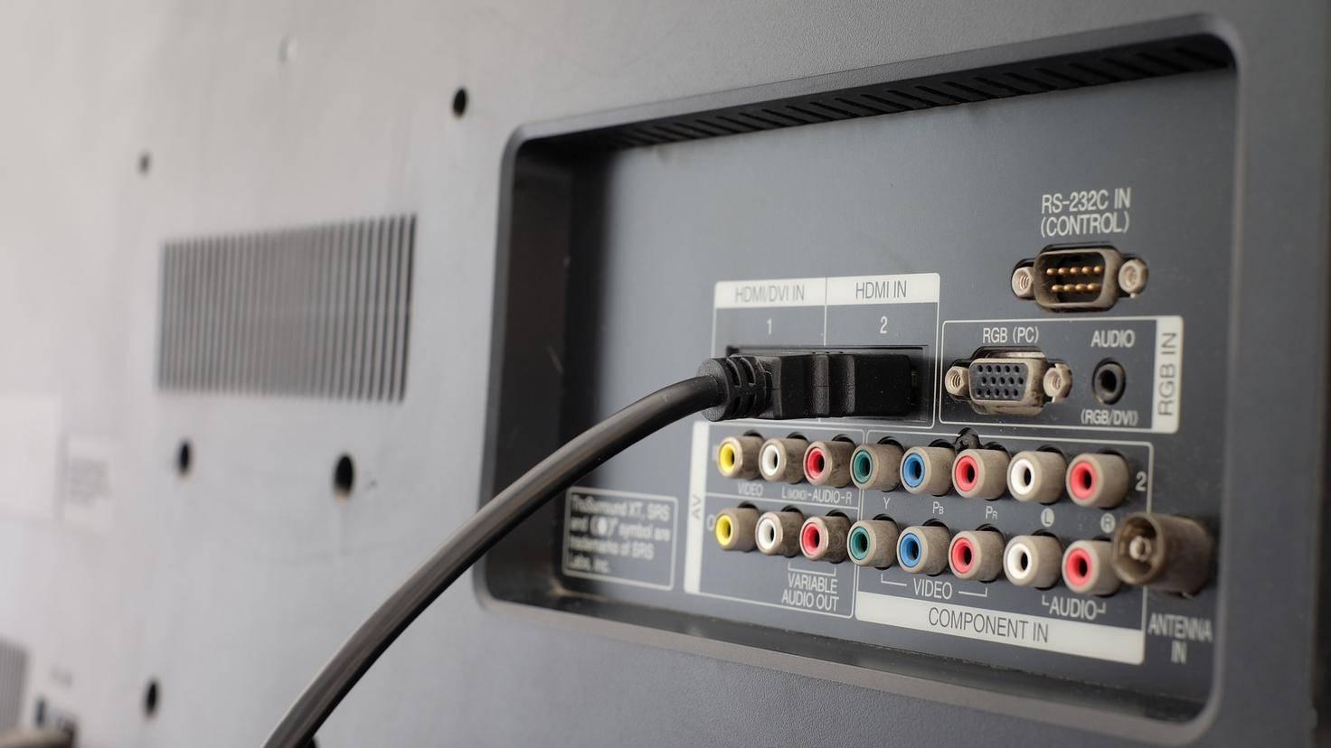 HDMI line many slot back TV