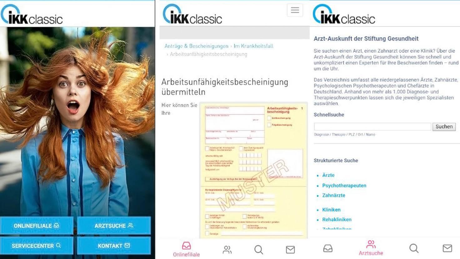 IKK Krankenkassen App-Google Play Store-IKK Classic