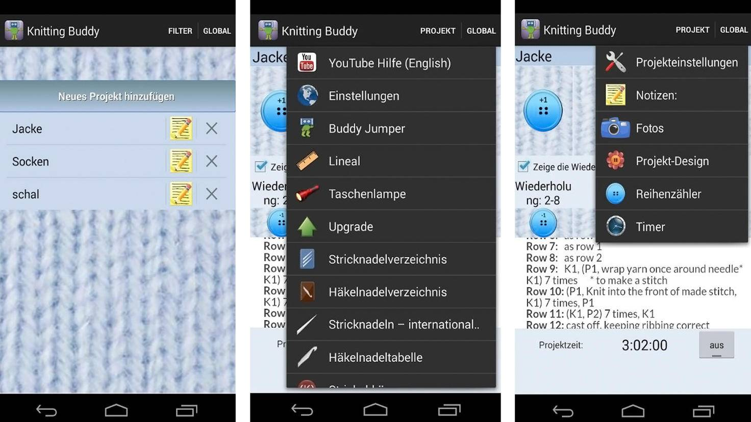 Knitting Buddy App-Google Play Store-Colorwork Apps